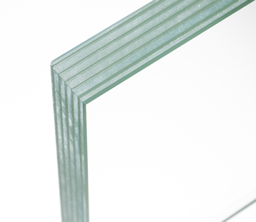 Laminated fire rated glass